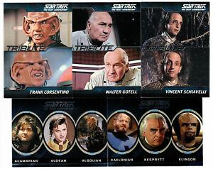 2011 The Complete Star Trek TNG Alien / Tribute Insert You Pick Finish Your Set