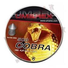 PIOMBINI UMAREX COBRA CALIBRO 4.5 a PUNTA CONFEZIONE 500 Pezzi PALLINI in PIOMBO