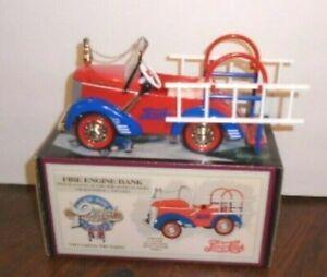 PEPSI COLA CROWN PREMIUMS 1941 GARTON FIRE ENGINE BANK PEDAL CAR 1/6, 1,500 MADE