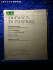 Sony Bedienungsanleitung TA F450D / 450ESD Stereo Amplifier  (#0392)