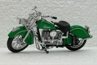 MOTO MAISTO SCALA 1/18-INDIA MOTORCYCLE VERDE-USATO COME DA FOTO REALE