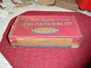 NOS MOPAR 1956-7 PLYMOUTH 8 CYLINDER PISTON RING SET STANDARD BORE