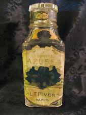 Vintage 1915C AZUREA L T PIVER POUDRE A SACHETS Bottle France Stamp Glass Top