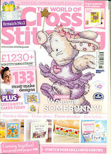 The World of Cross Stitching Magazine 218 - 2014 & Vintage Florals Book & Tags