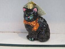 Halloween  Black Cat Kitty  Old World Christmas glass ornament