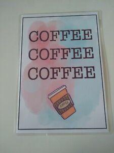 Handmade, Fun, Coffee sign, Gift, craft, card making, scrapbooking, print