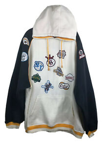 Negro League Baseball Commemorative Hoodie Sweatshirt NLBPA Team Patches - 3XL