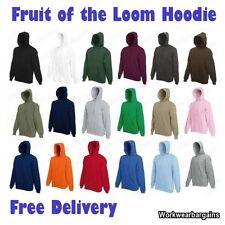 Fruit of the Loom Plain Hooded Cotton Blend Men's Hoodies & Sweats