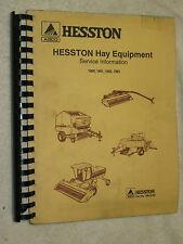 1990, 1991, 1992, 1993 AGCO HESSTON HAY EQUIPMENT SERVICE INFORMATION MANUAL