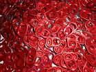 100 RED ALUMINUM CAN TABS ASSORTED PULL TABS POP TOPS SODA BEER