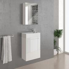 VICCO Badmöbel Set 45cm Waschtisch Gäste Waschbecken Spiegelschrank Bad Spiegel
