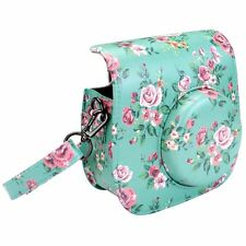 Fujifilm Instax Mini 8 CASE Shoulder Bag Vintage Pu Leather with Strap Floral
