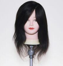 "SAMMI SMC-1600 Hairdressing Training Mannequin w 100% Human Hair Full Wig 16"""
