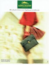 Publicité Advertising 088  1994   Longchamp  porte_musique gants pastille