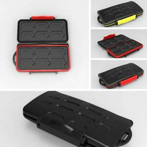 Memory Card Box Case Holder For 12 Micro SD TF Cards Waterproof Hard Storage