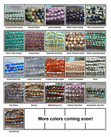 3mm Czech Fire Polished Glass Beads 50 Faceted Round Choose Color
