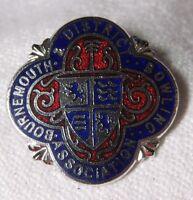 BOURNEMOUTH & DISTRICT BOWLING ASSOCIATION Enamel Badge Lapel Pin
