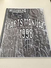 Husaberg 1998 Parts Manual ,  New Re-Printed version of OEM Book