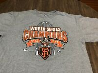 San Francisco Giants 2010 World Series Champions Large Gray T Shirt MLB Majestic