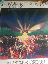 Supertramp Paris Live '79 Poster Authentic And Rare Promo Poster 1980