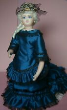 CATHY HANSEN 8''FRENCH FASHION SMILING BRU DOLL- BISQUE & LEATHER-GLASS EYES