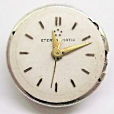 Antique Lds Auto Eterna Matic Watch Movement 16 mm, 17 jewels # 4022661 *