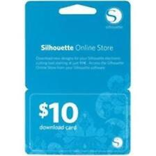 SILHOUETTE AMERICA  $10.00 DOWNLOAD CARD  SILH-10DNLD