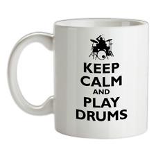 Keep Calm and Play Drums Mug - Drummer - Drumming - Guitar - Music - Rock