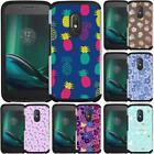 For Motorola Moto G4 / G4 Plus Hybrid Case Cover Flower Unicorn Pastel Color