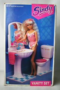 RARE VINTAGE 1991 SINDY VANITY TOILET FOR DOLL HOUSE HASBRO NEW UNUSED !
