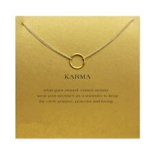 karma Double chain Circle necklace alloy Pendant necklace Clavicle necklace gift