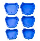 Dental Plaster Model Base Former Molds Tray Silicone Rubber Blue Tray  For Denta