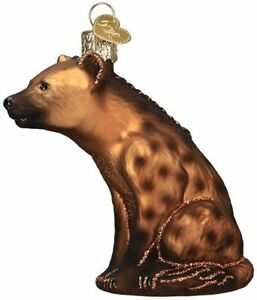 Happy Hyena Ornament Old World Christmas New Blown Glass Glitter Accents