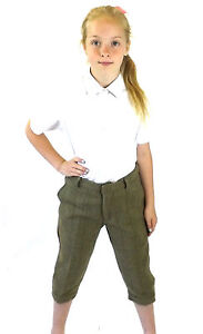 New Kids Tweed Plus Fours Green Country Sport Breech Trousers Hunting Riding