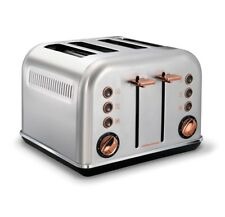 Morphy Richards Accents 4 Slice Wide Slot Toaster In Brushed Rose Gold 242105