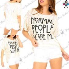 Damen-T-shirts im Lagenlook-Stil mit Rundhals-Ausschnitt