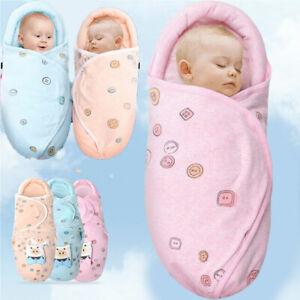 Newborn Baby Boys Girls Infant Swaddle Wrap Swaddling Blanket Comfy Sleeping Bag