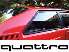 Aufklebersatz 2 quattro Schriftzüge (Audi Quattro)