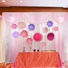Colorful Paper Flower Photography Backdrop Background Wall Hanging Wedding Party