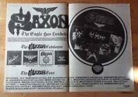 Saxon The Eagle has landed tour  1982 press advert 2 page 56 x 40 cm mini poster
