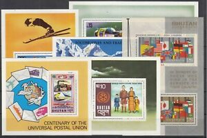 10487/ BHUTAN – 1964 / 1987 MINT MNH BLOCKS SELECTION