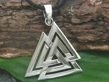 Wotan Knot 925 Silver Pendant Necklace Wotan's Knot valknut Celtics