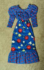 BARBIE MOD 80'S BLUE FLOWER DRESS VERY NICE  ~