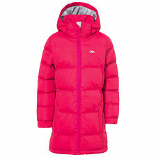 Trespass Windproof Tiffy Kids Outdoor Hooded Jacket Available in Raspberry - Siz