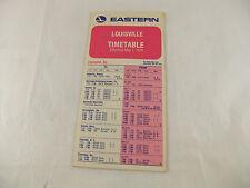 Vintage 1975 Eastern Airlines Timetable/Flight Schedule from Louisville Kentuky