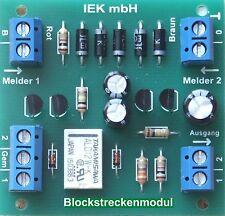 Blockstreckenmodul mit Signalbildansteuerung, Blockstelle, Blockstrecke, IEK