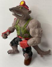 Vintage 1991 Playmates Toys TMNT Dirtbag Mole Action Figure Toy