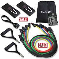 TheFitLife Exercise Resistance Bands with Handles -5 Fitness Workout Bands