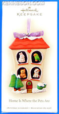 Home is Where the Pets Are Cat Dog Hallmark Keepsake Christmas Ornament 2008