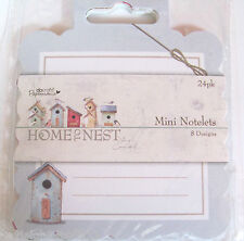 PAPERMANIA~2x HOME TO NEST~mini NOTELET PADS~48 SHEETS~8 DESIGNS~CRAFT~ART~x2
